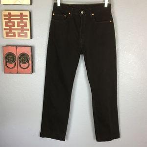 32d78302 Levi's 505 Straight Leg High Rise Black Dad Jeans